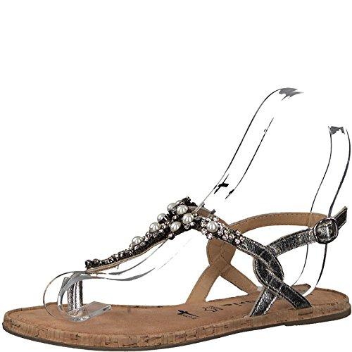 Tamaris 1-1-28099-20 Damen Sandale, Sandalette, Sommerschuhe Für Die Modebewusste Frau Schwarz (Black), EU 36