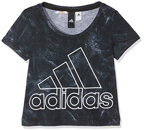 adidas Mädchen ID Moon T-Shirt, White/Black/White, 140