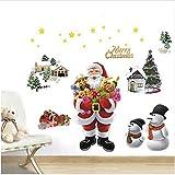 Newberli Decorazione Della Finestra Di Vetro Della Parete Dell'Ornamento Dell'Autoadesivo Della Parete Di Natale Delle Campane Di Natale Delle Campane Di Natale