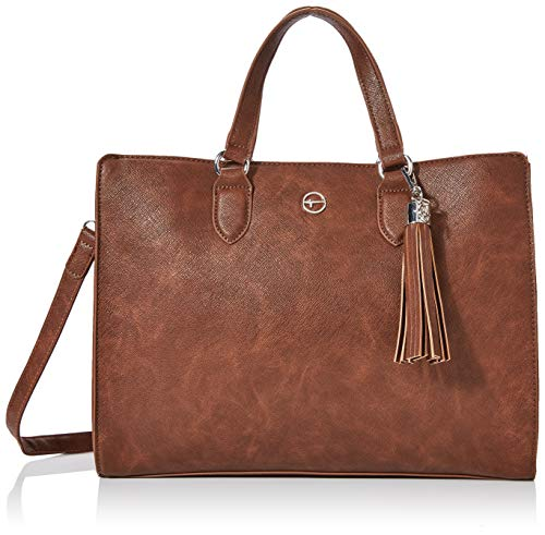 Tamaris Damen Mabou Business Tasche, Braun (Brown), 16x40x37 cm