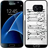 DesignedByIndependentArtists Coque pour Samsung Galaxy S7 - Code à Barres Esprit Sauvage B & W by LouJah