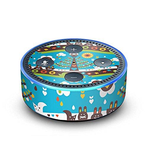 amazon Echo Dot 2.Generation Folie Skin Sticker aus Vinyl-Folie Tree Baum Eulen