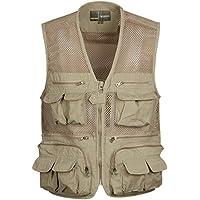 GDS/rápido seco impermeable al aire libre vest. pesca vest. Casual hombres de Plus tamaño chalecos de director, 2-XXXXL