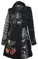 #681 Damen Designer Patchwork Winter Mantel Trenchcoat Wintermantel 36 38 40 42