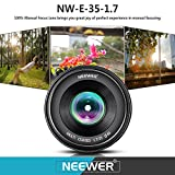 Neewer NW-E-50-2.0 50mm f/2.0 Manueller Fokus Prime - 5