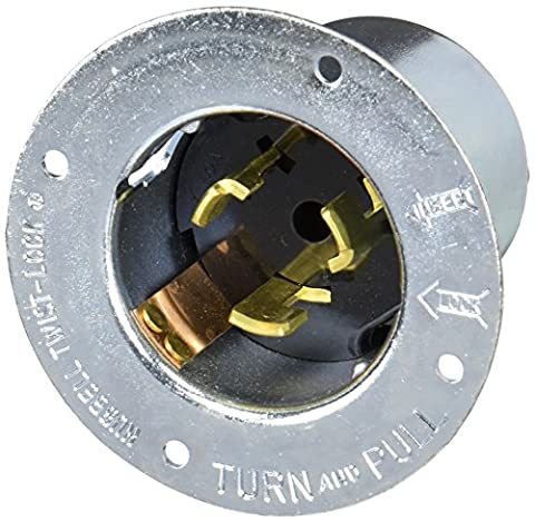 Hubbell CS8375 Locking Inlet, 50 amp, 3 Phase 250V, 3 Pole 4 Wire