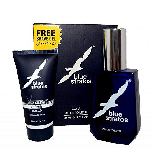 Blue Stratos by Blue Stratos Eau de Toilette 50ml & Shave Gel 25ml by Blue Stratos Gift Set - See Description