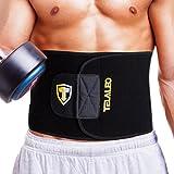 TELALEO Fitnessgürtel Bauch für Männer und Frauen, Schlankheits Gürtel, Verstellbarer Taillen Trimmer Gürtel Schwarz/ Gelb