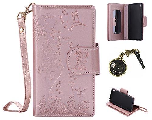 Preisvergleich Produktbild PU Abdeckungs-Fall Smartphone Sony Xperia XA (5 Zoll (12,7 cm) PU-Mappe Kasten Schutzhülle Geldbörse , Kreditkartenschlitz (Schlitz 9), Silikon Schutzhülle Handyhülle Painted zum Schutz + Staubkappe (8VB)