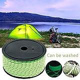 Zeltleine Campingseil, 50 m volles leuchtendes Seil Multipurpose Survival Reflective Cord Pack winddichtes Zeltseil zum Wandern, Angeln, Segeln, Camping