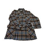 EQUINOXE giacca camera uomo quadri moro 55%cotone 45%acrilico MADE IN ITALY (M - IT 48)
