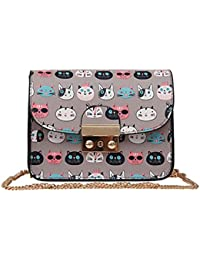 Blingg Cute Cat-Print Sling Bag Gift For Women's & Girl's/Fashionable Sling Bag For Women/Women Stylish PU Leather...