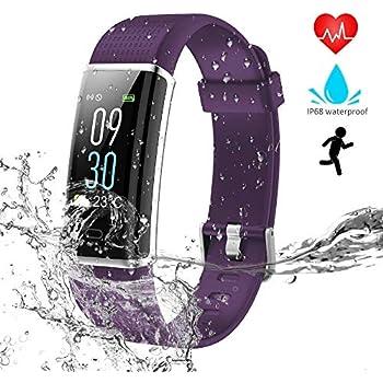 WZTO Montre Connectée Bluetooth Fitness Tracker dActivité Écran Couleur Etanche IP68 Cardiofréquencemètre Tension Artérielle