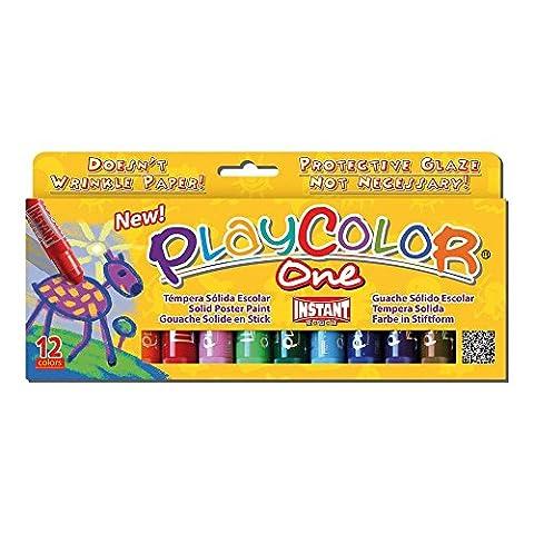 Instant - 2610731 - Playcolor - Gouache Solide en Stick - 12 couleurs - 10 g