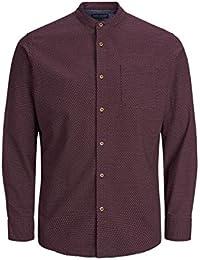 Abbigliamento Amazon camicia m bordeaux Uomo it Viola awTCq4wUx