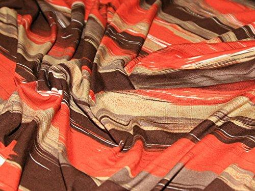 Burnt Orange Rayon/Spandex Jersey-Stretch Designer Kleid Stoff–Pro Meter (Spandex Stretch-rayon)