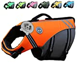 Vivaglory New Sports Style Ripstop Dog Life Jacket with Superior Buoyancy & Rescue
