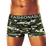 Bóxer Hombre, Lenfesh Calzoncillos de Camuflaje Hombres Calzoncillos Pantalones Cortos Ropa Interior de Camuflaje Sexy (L, Camuflaje #C)