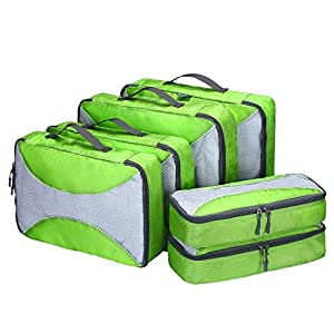 G4Free 6pcs Packing Cubes Value Set Suitcase Organiser for Travel