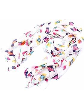 lureme®sweety largo pañuelo ligero colorido de la moda de impresión de caballos (01003409)