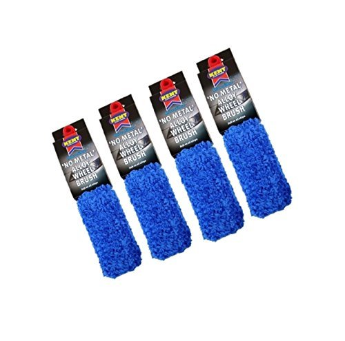 4-x-kent-car-care-micro-fibra-no-metal-aleacion-cepillo-de-la-rueda-limpieza-limpiador-q4334