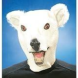 Gummi Maske Eisbär Bärmaske Karneval Eisbärmaske Bär Tiermaske Fasching Karneval Verkleidung Kostüm Zubehör