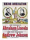 Cartel de la campaña electoral para la nominación unión con Abraham Lincoln Artistica di Stampa (45,72 x 60,96 cm)