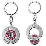 FC Bayern München Schlüsselanhänger mit Einkaufschip / Anhänger FCB - plus gratis Aufkleber forever München
