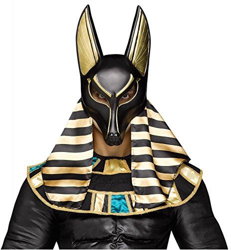 Kostüm Halloween Herrscher (Ägyptischer Gott der Toten Anubis Maske König Ägypter Totengott Mythologie Hund Schakal Gottheit)
