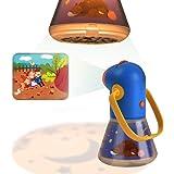 Proyector de cuentos infantiles con lente de zoom Lámpara de luces nocturnas para los niños Dormitorio durmiendo con asa, apa