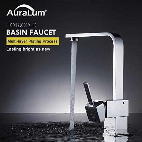Auralum – Elegante 360° schwenkbare Küchenarmatur, Chrom - 3