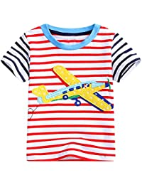 Kaily Junge Baumwolle Rakete Kurzarm Sommer Top T-Shirt