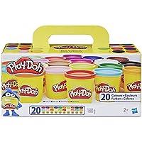 Play-Doh –  20 pots de Pate A Modeler - Super couleurs - 84 g chacun