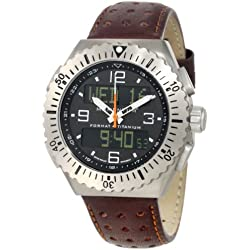 Momentum Herren 1M-SP24B2C Format 4 Brown Perforated Leather Armbanduhr