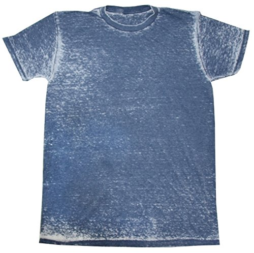 Acid Wash Tie Dye Shirt Colorful Denim T-Shirt 2XL -
