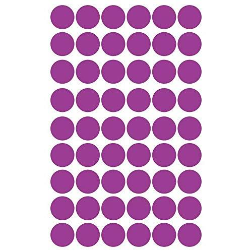 ZJX Mini Gold Polka Dots Wandaufkleber DIY Vinyl Interessante Wandkunst Kindergarten Dot Aufkleber Für Kinderzimmer Wohnkultur, lila