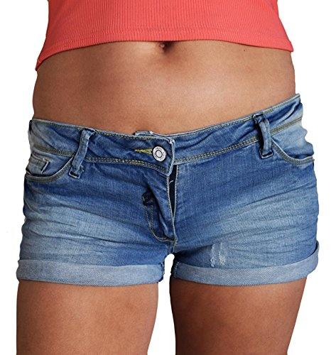 TopsandDresses Women's Washed Distressed Denim or Black Shorts Hotpants With Stretch UK Sizes 6-18
