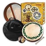 Waltons - Coffre cadeau Bodhrán 18 Shamrock - pochette, batteur, DVD inclus