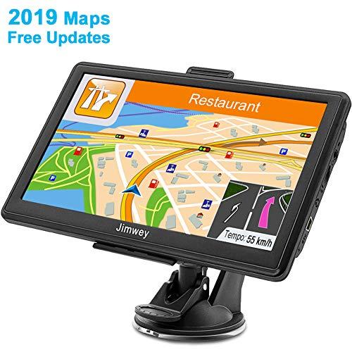GPS Navi Navigation für Auto LKW PKW 7 Zoll Navigationsgerät Lebenslang Kostenloses Kartenupdate mit POI Blitzerwarnung Sprachführung Fahrspurassistent 2019 Europa UK Karten