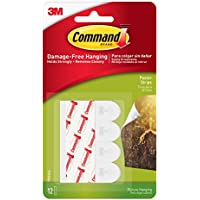 3M - Tiras Command Pequeñas (12 Pack/Caja)
