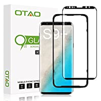 OTAO Galaxy S9 Plus Screen Protector Tempered Glass, 3D Curved Dot Matrix [Full Screen Coverage] Samsung Galaxy S9 Plus Screen Protector (6.2