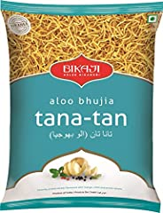 Bikaji Aslee Bikaneri Aloo Bhujia Tana-Tan - Potato Flakes Indian Namkeen Snack 1kg - Pack of 1