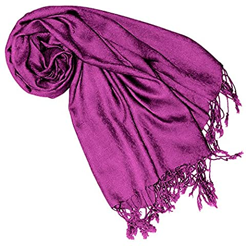 LORENZO cANA imprimé été echarpe tissu damassé jacquard modefarbe baie rose pourpre 65 x 175 cm damentuch 93080