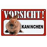 Tier-Warn-Schild für Innen und Außen Kaninchen