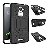 Chevron Hybrid Military Grade Armor Kick Stand Back Cover Case for Coolpad Note 3 Lite, 5 Inch (Black)