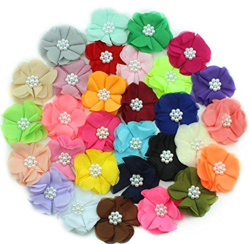 Morbida capelli Margherita per progetti creativi Home Decoration (30pezzi) 2,5pollici capelli fiore di perle per (Piccolo Cappello Pin)