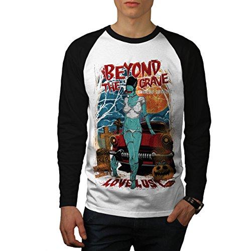 Darüber hinaus Das Grab Zombie Liebe Lust Herren S Baseball lange Ärmel T-Shirt | Wellcoda (Liebe Zombies, Ärmel Lange)