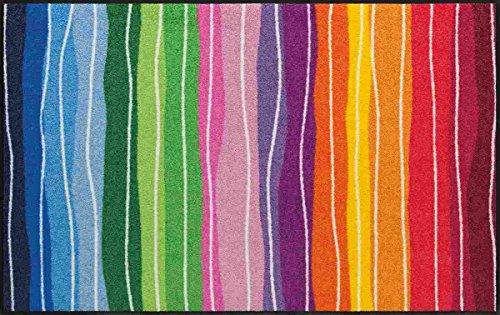 Salonloewe Fußmatte waschbar Pure Style Wavy Lines Bunt 75x120 cm SLD1075-075x120