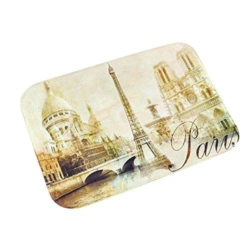 París Torre Puerta Alfombras de cocina absorbente de espuma de memoria Cuarto de baño alfombrilla antideslizante