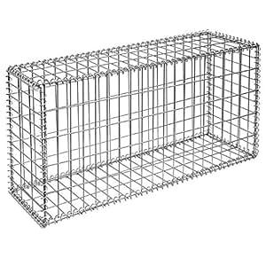gabion pour pierres 100x50x30 cm gabions m talliques d co jardin cage m tallique r ticul 5x10cm. Black Bedroom Furniture Sets. Home Design Ideas